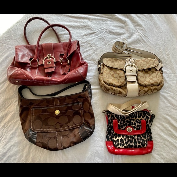 Lot of four Coach bags